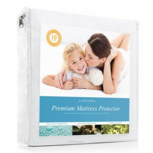 LINENSPA Premium 100% Waterproof Mattress Protector