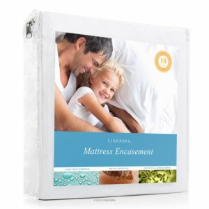 LINENSPA Zippered Bed Bug Proof Breathable Mattress Protector